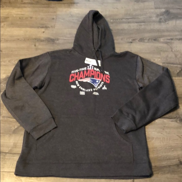 Men's Clothing Original Nwt Mens Sz Xl X-large Nfl Zip New England Patriots Hoodie Fleece Lined Jacket Sports Mem, Cards & Fan Shop